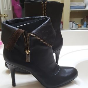 Coach brown leather bootie